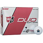 Wilson Staff Duo Spin Golf Ball - Dozen - Standard Ship