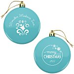 Flat Shatterproof Ornament - Snowflake - Merry Christmas