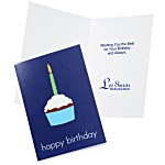 Happy Birthday Cupcake Note Card