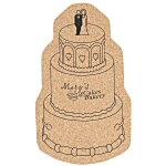 Large Cork Coaster - Wedding Cake