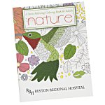 Stress Relieving Adult Coloring Book - Nature