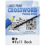 Large Print Crossword Puzzle Book & Pencil - Volume 1
