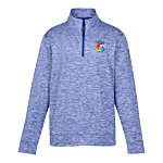 Voltage 1/4 Zip Heather Pullover - Embroidered