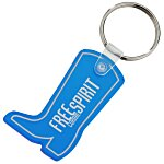 Western Boot Soft Key Tag - Translucent
