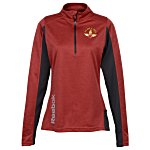 Reebok Crossover 1/4-Zip Lightweight Heather Pullover - Ladies'