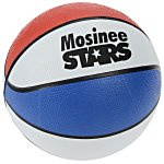 Mini Rubber Basketball - Red, White & Blue