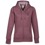 Econscious Heathered Fleece Full-Zip Hoodie - Ladies