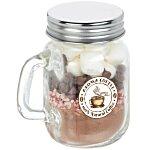 Hot Chocolate Kit in Mini Glass Mason Jar