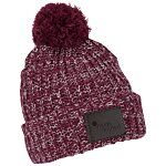 Pom Pom Beanie with Cuff - Patch