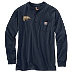 Carhartt Long Sleeve Henley Shirt - Embroidered