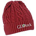 Optimal Cable Knit Cuffed Beanie