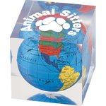 Globe Paperweight - Square