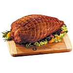Smoked Turkey Breast with Bamboo Cutting Board