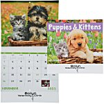 Puppies & Kittens Calendar - Stapled