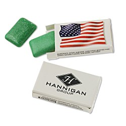 View a larger, more detailed picture of the Peppermint US Flag Gum 2 Piece Box