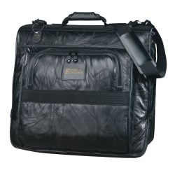 View a larger, more detailed picture of the Leather Valet Garment Bag