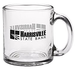 View a larger, more detailed picture of the Glass Mug - Clear - 13 oz