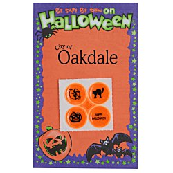 View a larger, more detailed picture of the Halloween Safety Card with Quad-Dots