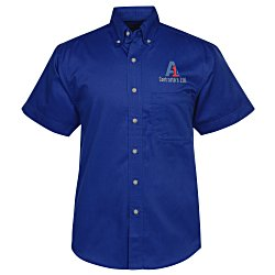 View a larger, more detailed picture of the Blue Generation SS Teflon Treated Twill Shirt - Men s