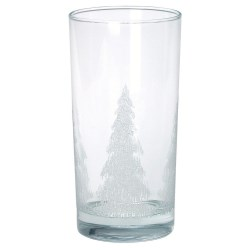 View a larger, more detailed picture of the Drinking Glass with Iced Tree Design - 12 oz