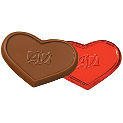 View a larger, more detailed picture of the Foil-Wrapped Chocolate Heart