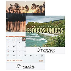 View a larger, more detailed picture of the Landscapes of America Calendar Spanish - Stapled