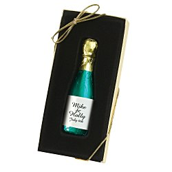 View a larger, more detailed picture of the Chocolate Champagne Bottle - 1 oz