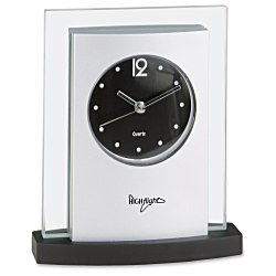 View a larger, more detailed picture of the Desktop Analog Clock - Black Base
