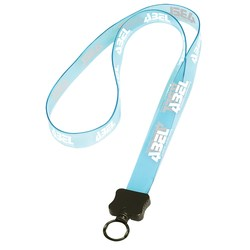 View a larger, more detailed picture of the Transparent 3 4 Vinyl Lanyard