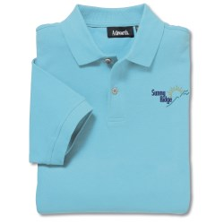 View a larger, more detailed picture of the Ashworth Classic Solid Pique Shirt - Men s
