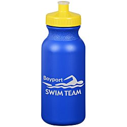 View a larger, more detailed picture of the Sport Bottle with Push Pull Lid - 20 oz - Colors