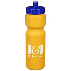 View a larger, more detailed picture of the Sport Bottle with Push Pull Lid - 28 oz - Colors