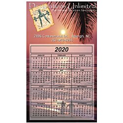 View a larger, more detailed picture of the Bic 30 mil Calendar Magnet - Medium