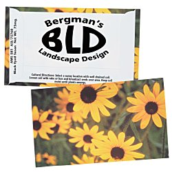 View a larger, more detailed picture of the Business Card Seed Packet - Black Eyed Susan