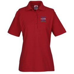 View a larger, more detailed picture of the Hanes ComfortSoft Cotton Pique Shirt - Ladies