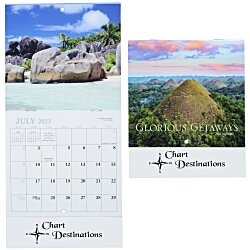 View a larger, more detailed picture of the Glorious Getaways Calendar - Mini