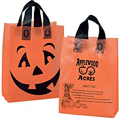 View a larger, more detailed picture of the Halloween Orange Frosted Shopper