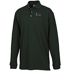 View a larger, more detailed picture of the Superblend Long Sleeve Pique Polo - Men s