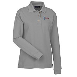 View a larger, more detailed picture of the Superblend Long Sleeve Pique Polo - Ladies