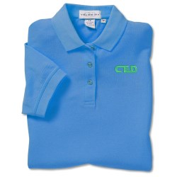 View a larger, more detailed picture of the Cotton Pique Sport Shirt - Ladies - Closeout