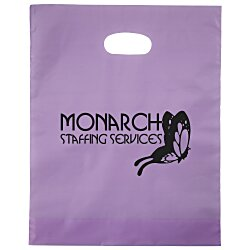 View a larger, more detailed picture of the Colored Frosted Die-Cut Convention Bag 15 x 12
