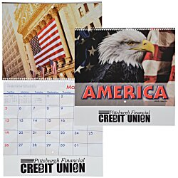 View a larger, more detailed picture of the American Visions Calendar - Spiral