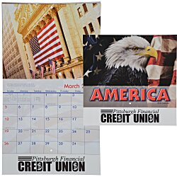 View a larger, more detailed picture of the American Visions Calendar - Stapled