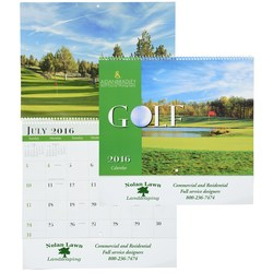 View a larger, more detailed picture of the Golf Landscapes Calendar - Spiral