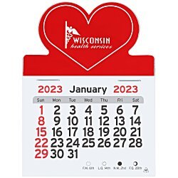 View a larger, more detailed picture of the Peel-N-Stick Calendar - Heart