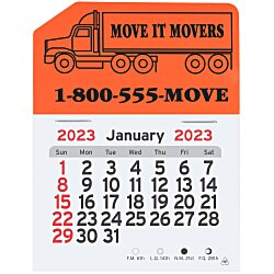 View a larger, more detailed picture of the Peel-n-Stick Calendar - Semi Truck