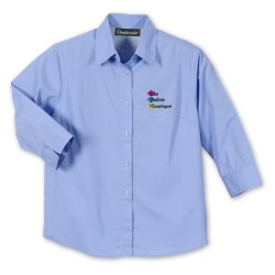 View a larger, more detailed picture of the Avalon 3 4 Sleeve Oxford Shirt - Ladies