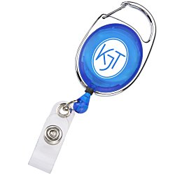 View a larger, more detailed picture of the Clip-On Retractable Badge Holder - Translucent