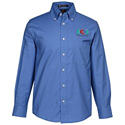 View a larger, more detailed picture of the Harriton Oxford with Stain Release Shirt - Men s