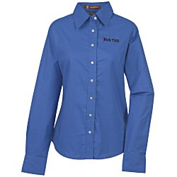 View a larger, more detailed picture of the Harriton Oxford with Stain Release Shirt - Ladies
